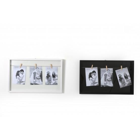 Marco de fotos con 3 pinzas - Justo Muñoz