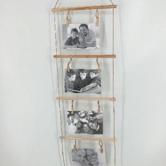 Marco de fotos escalera para colgar justo mu oz - Marcos de fotos para colgar ...